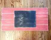 Red and Black Wooden Long Pink Plank Canvas or Picture Frame-Home Decor