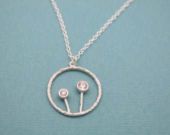 018- Wish - Sterling Silver dandelion necklace