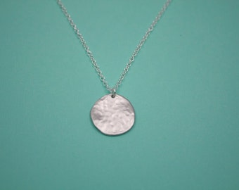 079- ntegrity - Sterling silver large hammered disc