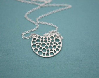 197- Essence - Sterling Silver unique pendant necklace