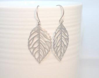 014- Live - Silver leaf dangle earrings