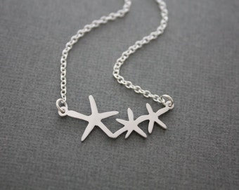 234-  Wish upon a star - STERLING SILVER star necklace