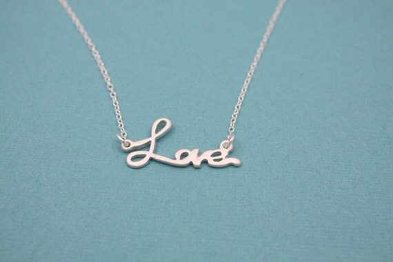 104- Sterling silver love necklace
