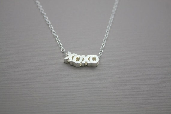 120- Affection - Sterling Silver XO XO necklace