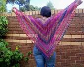 Shawl - Shawlette - Long Scarf - Neckwear - Beach wrap - belly dancing wrap - Neck accessories - PDF crochet pattern