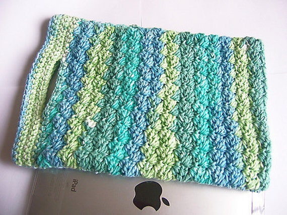 Crochet iPad Bag - Crochet Project Bag - Crochet Lunch Bag - Crochet ...