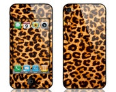 Apple iPhone 4 4S Decal Skin Cover - Leopard Spots GLOSSY MATTE LEATHER option
