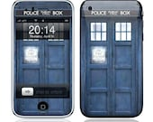 Apple iPhone 3G / 3GS Case Decal Skin Cover  - Police Public Call Box Glossy Matte Leather option