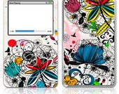 Apple iPod Classic Decal Skin Cover - Wild Flowers