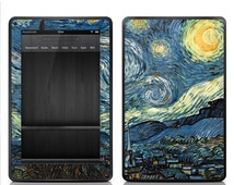 """Amazon Kindle Fire Decal Skin Cover - Kindle Fire HD 7"""" 8.9"""" Skin Cover - Van Gogh Starry Night"""