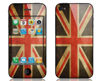 Apple iPhone 3G / 3GS, iPhone 4 / 4s, iPhone 5 / 5s, iPhone 5c, iPhone 6, iPhone 6 Plus Decal Skin Cover - Old British Flag