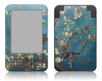 Amazon Kindle 3 / Keyboard Decal Skin Cover - Van Gogh Blossoming Almond Tree
