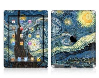 Apple iPad Air 2, iPad Air 1, iPad 2, iPad 3, iPad 4, and iPad Mini Decal Skin Cover - Van Gogh Starry Night