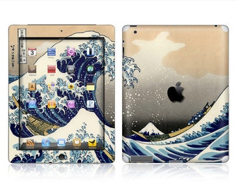 Apple iPad Air 2, iPad Air 1, iPad 2, iPad 3, iPad 4, and iPad Mini Decal Skin Cover - The Great Wave