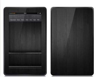 Amazon Kindle Fire Decal Skin - Dark Wood