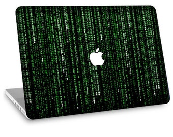"Apple Macbook Air 11"" 13"" Decal Skin and Apple Macbook Pro 13"" 15"" Decal Skin w/  Apple Cutout - Matrix"