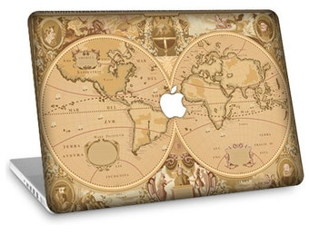 "Apple Macbook Air 11"" 13"" Decal Skin and Apple Macbook Pro 13"" 15"" Decal Skin - Old Map"