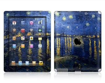 Apple iPad Air 2, iPad Air 1, iPad 2, iPad 3, iPad 4, and iPad Mini Decal Skin Cover - Starry night Over the Rhone