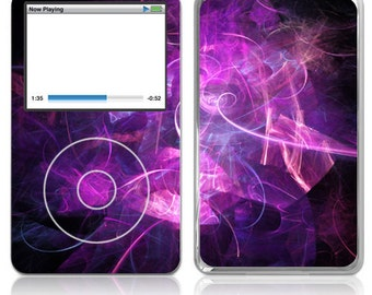 Apple iPod Classic Skin Cover - Purple Abstract