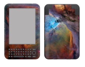 Amazon Kindle 3 / Keyboard Skin Cover - Nebula
