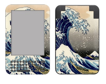 Amazon Kindle 3 / Keyboard Skin Cover - The Great Wave