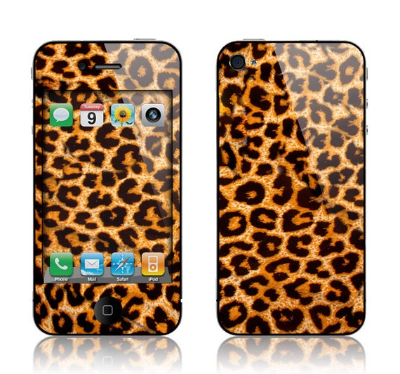 Apple iPhone 3G / 3GS, iPhone 4 / 4s, iPhone 5 / 5s, iPhone 5c, iPhone 6, iPhone 6 Plus Decal Skin Cover - Leopard Spots