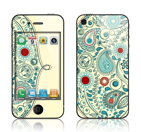 Apple iPhone 3G / 3GS, iPhone 4 / 4s, iPhone 5 / 5s, iPhone 5c, iPhone 6, iPhone 6 Plus Decal Skin Cover - Vintage Paisley