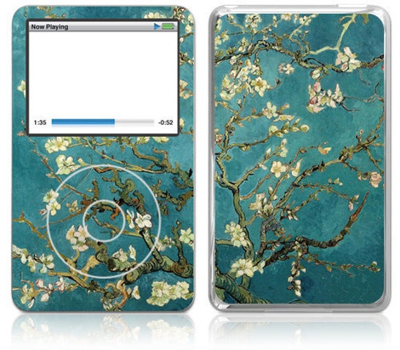 Apple iPod Classic Decal Skin Cover  - Van Gogh Blossoming Almond Tree