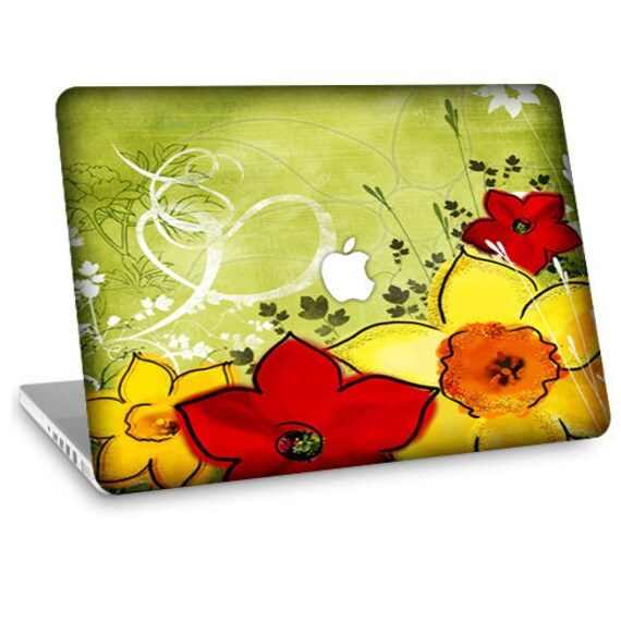 "Apple Macbook Air 11"" 13"" Decal Skin and Apple Macbook Pro 13"" 15"" Decal Skin - In Bloom"