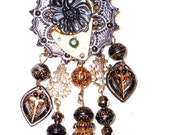 Steampunk womens necklace