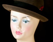Vintage Dobbs Fifth Avenue Men's Fur Felt Fedora in original Dobbs Fifth Avenue Box under 100