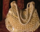 Vintage Ivory Beaded Purse from Hong Kong