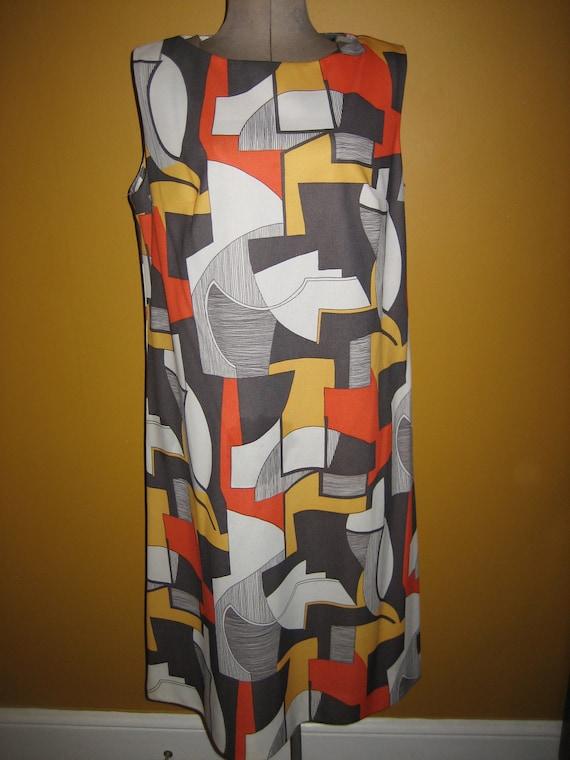 Vintage Nancy Greer New York Mod Graphic Dress