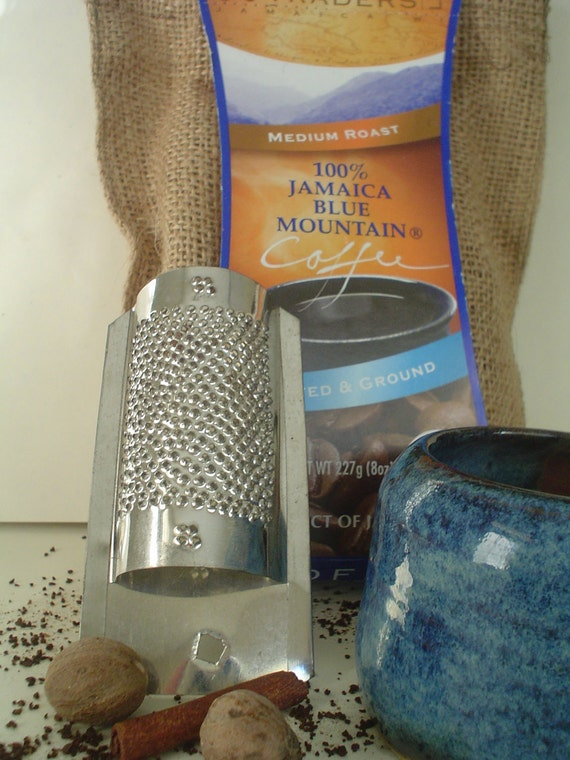 Coffee and Spice: Blue Mountain Coffee Medium Roast Ground with spice grater (1/2lb) 8oz.