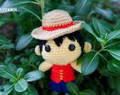 PATTERN: Monkey D. Luffy (One Piece) - Amigurumi crochet pattern (PDF File)