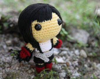 PATTERN: Tifa Lockhart (Final Fantasy VII) - Amigurumi crochet pattern (PDF File)