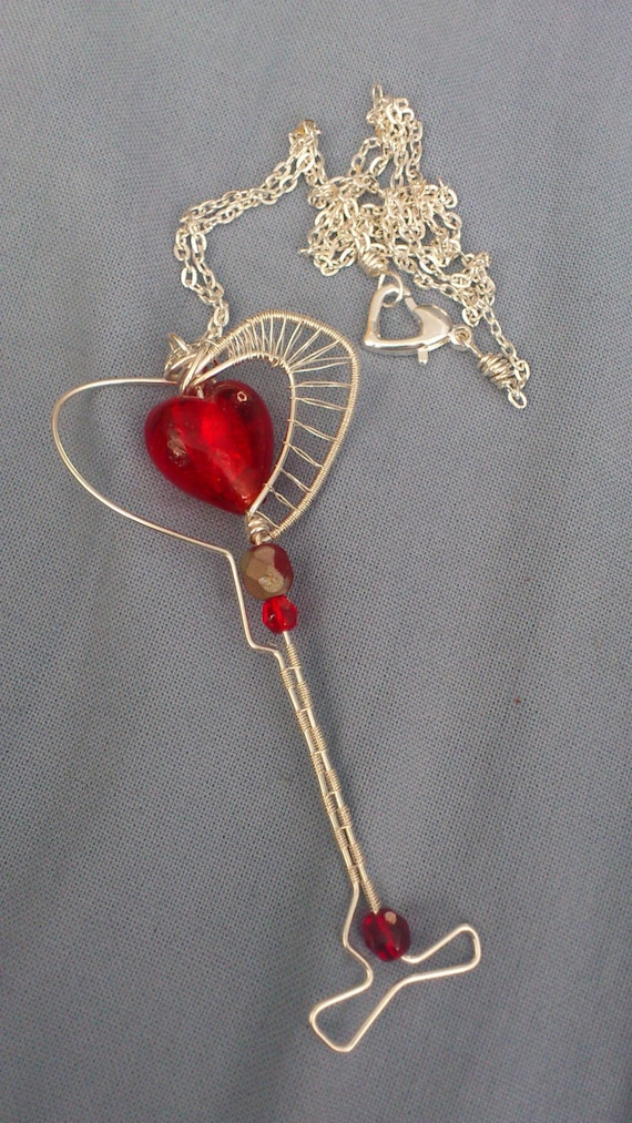 Wire Wrapped Key - Key to your Heart