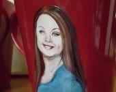 Painted Portrait on a Mug