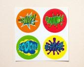 Batman sound effect stickers