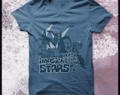 "Men's retro T shirt ""Invasion from beyond the stars"""