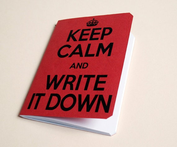 "Handmade notebook ""Don't panic"" Journal. Sketchbook. Notepad. writing. Geek. Keep calm"