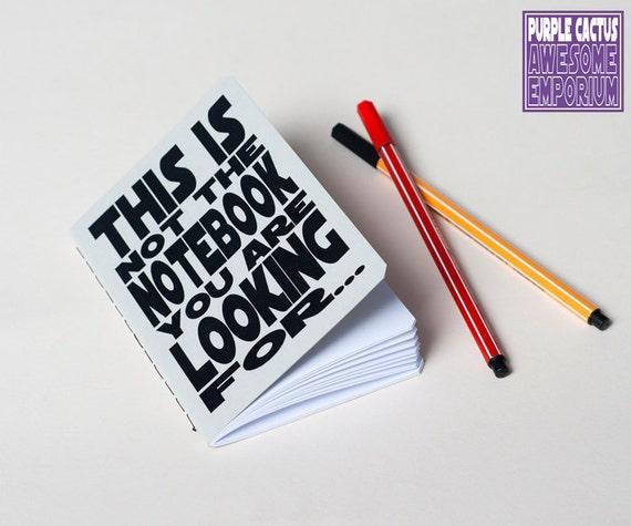 Star Wars notebook - Geek Journal - Handmade. Journal. Sketchbook. Notepad. writing. Geek