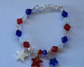 Patriotic Fourth of July Bracelet with Stars