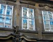 Prague Photo Collection - Window Reflection Angel Sculpture 13cm x 18cm (5in x 7in) unframed