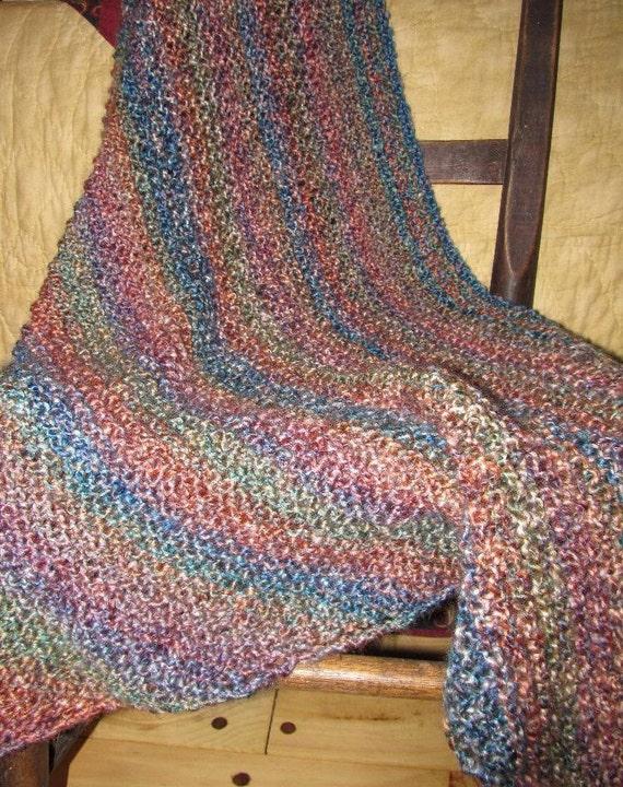 Hand Knit Prayer Shawl by MastersCraftsman on Etsy