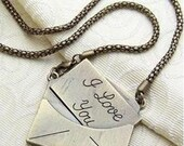 Lovely - Antique Bronze I Love You Letter Fashion Necklace