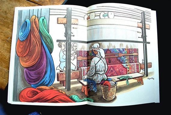 1946 Morocco, Gorgeous Book About Weaving and the Wool Trade, with Brilliant Illustrations, First Edition