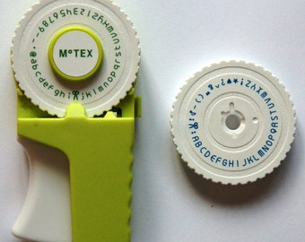 Retro OH MY Motex embossing label maker (emoticon, lowercase and uppercase) E303 GREEN