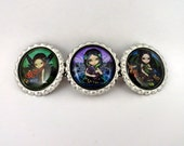 "Jasmine Becket-Griffith "" Dragonling Garden ""  hair barrette"