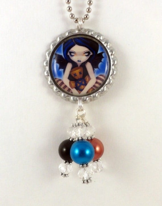 "Jasmine Becket-Griffith  "" Voodoo in Blue ""  Necklace"